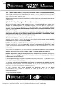 2017 Türkiye Scholarships Graduate Program Applications Announcement_001